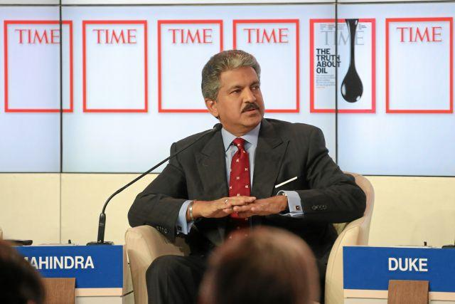 Anand Mahindra committed all of Mahindra Rise's companies to setting science-based emissions-reduction targets. Photo by Remy Steinegger/World Economic Forum