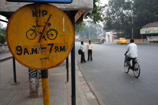 Kolkata's battle for road space has been more than a decade old. Photo by Subhadeep Mondal/Flickr