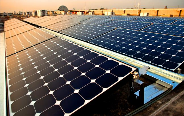 Solar empowers residential, commercial, and industrial consumers to lock in power prices below grid averages. Photo by Intel Free Press/Flickr.